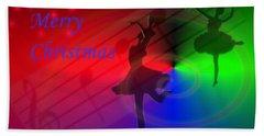 The Dance - Merry Christmas Hand Towel