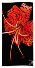 The Dance Of The Tiger Lily  Hand Towel