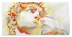 The David By Michelangelo. Tribute Bath Towel