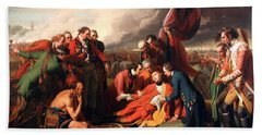The Death Of General Wolfe Hand Towel by Benjamin West