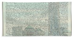 The Declaration Of Independence - Freedom Tower Bath Towel