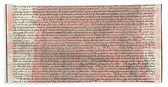 The Declaration Of Independence Bath Towel