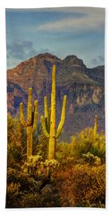 The Desert Golden Hour II  Hand Towel