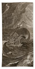 The Dioscuri Protect A Ship, 1731 Hand Towel