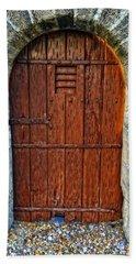 The Door - Vintage Art By Sharon Cummings Bath Towel