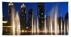 The Dubai Fountains Bath Towel