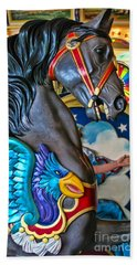 The Eagle And Horse Bath Towel by Colleen Kammerer