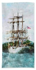 Bath Towel featuring the photograph The Eagle Has Landed I by Marianne Campolongo
