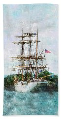 Tall Ship Eagle Has Landed Hand Towel by Marianne Campolongo