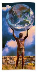The Earth Is In Our Hands Bath Towel