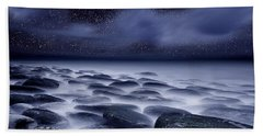 The Edge Of Forever Hand Towel by Jorge Maia