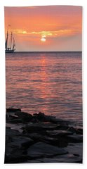 The Edith Becker Sunset Cruise Hand Towel by David T Wilkinson