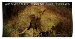 Bath Towel featuring the digital art The Elephant - Inner Strength by Absinthe Art By Michelle LeAnn Scott