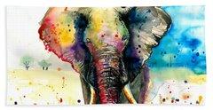 The Rainbow Elephant - Xxl Format Bath Towel