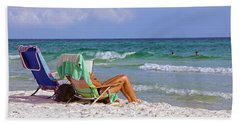 The Emerald Coast Bath Towel by Charles Beeler