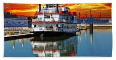 The End Of A Beautiful Day In The San Francisco Bay Hand Towel