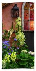 The English Cottage Window Bath Towel by Dora Sofia Caputo Photographic Art and Design