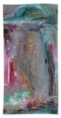 Hand Towel featuring the painting The Entrance by Mary Wolf