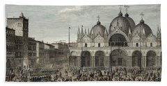 The Entry Of The French Into Venice Bath Towel