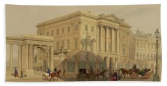The Exterior Of Apsley House, 1853 Hand Towel