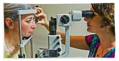 The Eye Doctor Bath Towel by Keith Armstrong