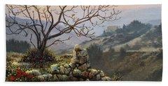 The Fig Tree   Mt Carmel Bath Towel
