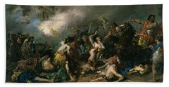 The Final Day Of Sagunto In 219bc, 1869 Oil On Canvas Hand Towel