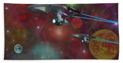 The Final Frontier Hand Towel by Michael Rucker
