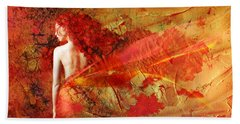 The Fire Within Hand Towel by Jacky Gerritsen