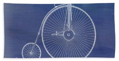 The First Bicycle Penny-farthing Hand Towel by Dan Sproul