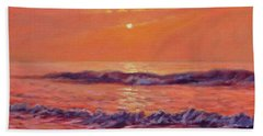 The First Day-sunrise On The Beach Hand Towel