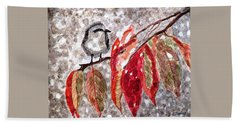 Hand Towel featuring the painting The First Snow by Angela Davies