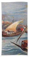 The Fleet Of Doria, Naples Bath Towel