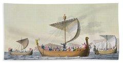 The Fleet Of William The Conqueror Bath Towel