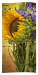 The Flower Market Bath Towel by Priscilla Burgers