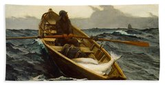 The Fog Warning Hand Towel by Winslow Homer
