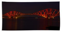 The Forth Bridge By Night Bath Towel