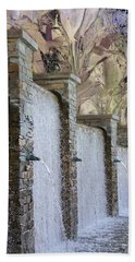 Bath Towel featuring the photograph The Fountain by Athala Carole Bruckner