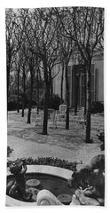 The Garden Of A Home In Meridian Hill Hand Towel