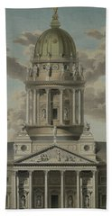 The German Cathedral On The Gendarmenmarkt Hand Towel