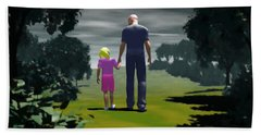 Bath Towel featuring the digital art The Gift Of Being 'daddy' by John Alexander