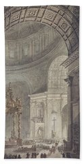 The Glowing Cross In St Peters, Rome, On Maundy Thursday Hand Towel