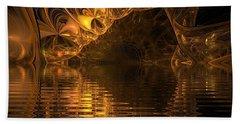 The Golden Cave Bath Towel