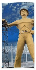 The Golden Driller - Tulsa Oklahoma Bath Towel