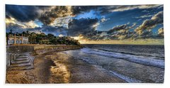 the golden hour during sunset at Israel Hand Towel
