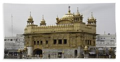 The Golden Temple In Amritsar Bath Towel