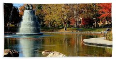 The Goodale Park  Fountain Hand Towel