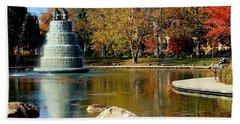 The Goodale Park  Fountain Bath Towel