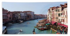 The Grand Canal Venice Oil Effect Hand Towel