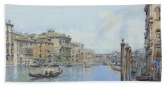 The Grand Canal With A View Of Palace Bath Towel